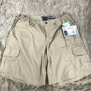 5.11 Tactical Taclite Shorts Khaki NWT Size 14